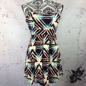 * Material Girl Dress * Tie Dye Spaghetti Straps *